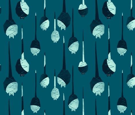 Bats! by flashlight! fabric by meduzy on Spoonflower - custom fabric