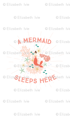 coral reef a mermaid sleeps here crib sheet format
