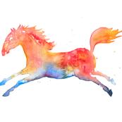 Rainbow Horse - basic repeat