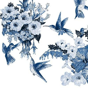 Humming Bird Delft Vibe Navy on White