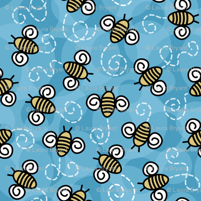 Bees and Blue skies.