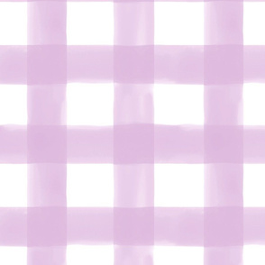 Watercolor Gingham // Lilac