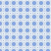 Star Trellis in Periwinkle Blue