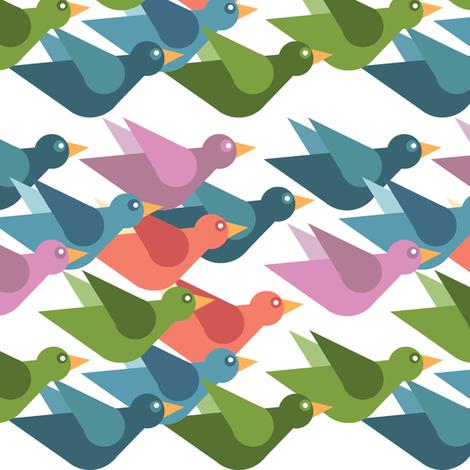 Birds of Flight fabric by cooper+craft on Spoonflower - custom fabric