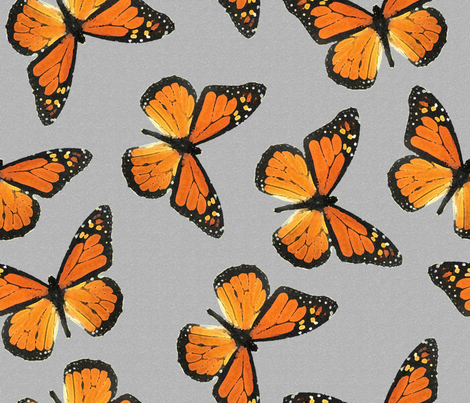 Butterflies fabric by fanciful_whimsy on Spoonflower - custom fabric