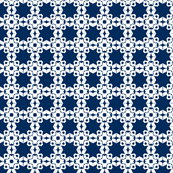 Star Trellis in Royal Navy (inverted)