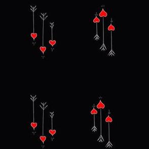 Heart Tip Arrows Black