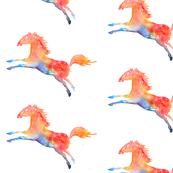 Rainbow horse - half drop