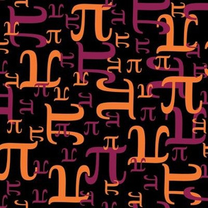 Pieces of Pi (Maroon and Orange)