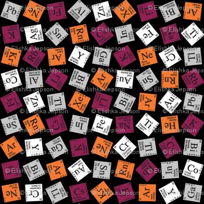 Topsy Turvy Periodic (Maroon and Orange)