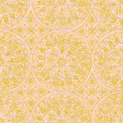 Cycling Mandalas (gold-peach)