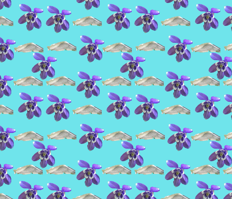 Flowers and Mountains fabric by juliescreations on Spoonflower - custom fabric