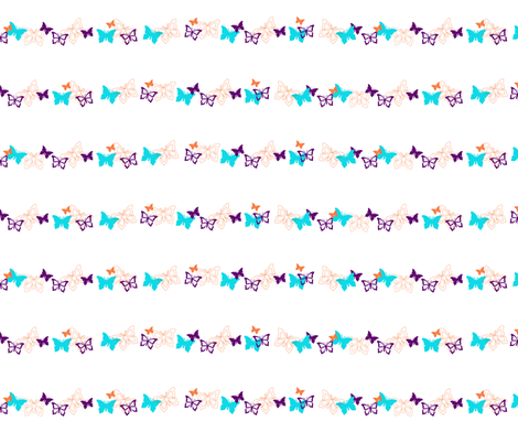 stripes of butterflies  fabric by mamagiraffe on Spoonflower - custom fabric