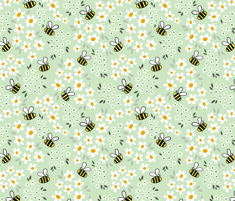 Busy Bees fabric by michaelannn on Spoonflower - custom fabric