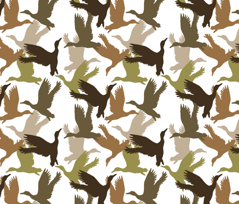 fly'in ducks fabric by paragonstudios on Spoonflower - custom fabric