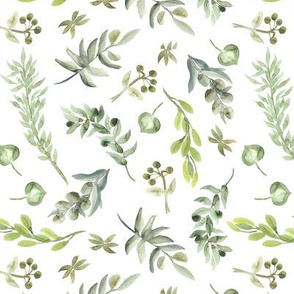 Botanical Print Green Leaves Nature Print