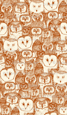 just owls rust pearl