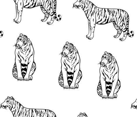 Tiger fabric by argunika on Spoonflower - custom fabric