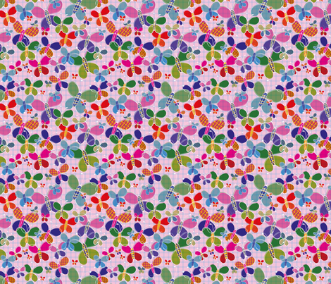 Butterflies fabric by blijmaker on Spoonflower - custom fabric
