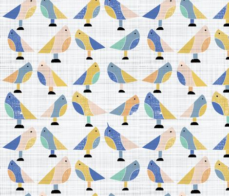 Free as a bird fabric by gemmacosgroveball on Spoonflower - custom fabric
