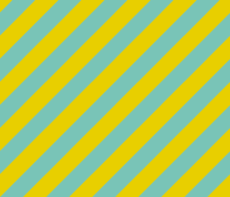 Diagonal Stripes BlueGreen fabric by kamilla on Spoonflower - custom fabric