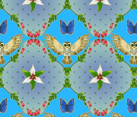Pacific Northwest Flora and Fauna fabric by jadegordon on Spoonflower - custom fabric