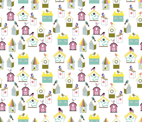 Oh, my Little Birds fabric by may_leong on Spoonflower - custom fabric