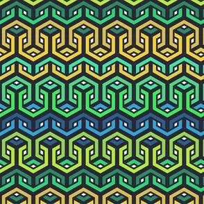 Geometric Looped Hexagons