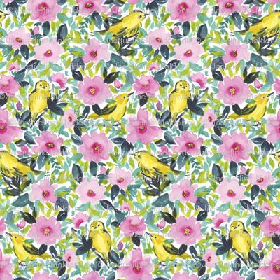 Birdies 'n Flowers