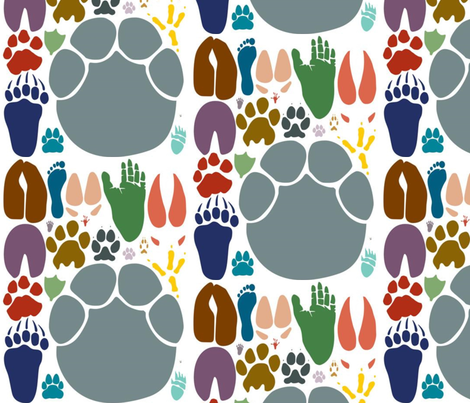 footprints  fabric by live&cre8 on Spoonflower - custom fabric