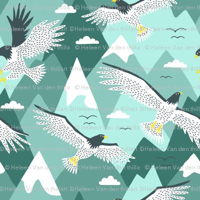 Falcon Bird Mountain flight