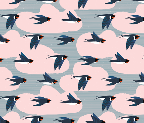 Migration Patterns M+M Smoke by Friztin fabric by friztin on Spoonflower - custom fabric