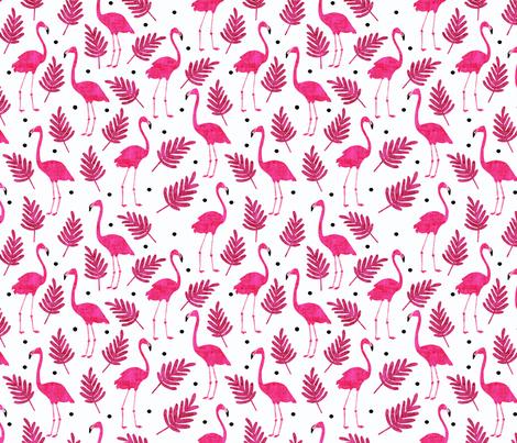 Flamingos  fabric by scarlette_soleil on Spoonflower - custom fabric