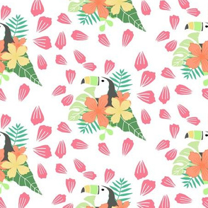 Toucan Tropical Floral Pattern