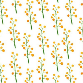 Charming watercolor sea buckthorn random pattern