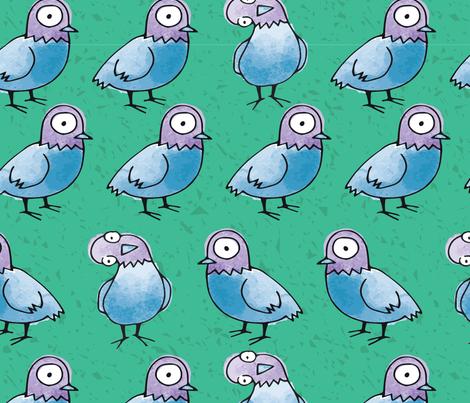 Pigeon Walk fabric by lalaliz on Spoonflower - custom fabric