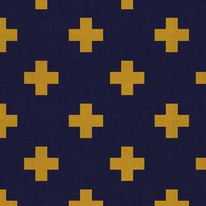 plus one navy and mustard