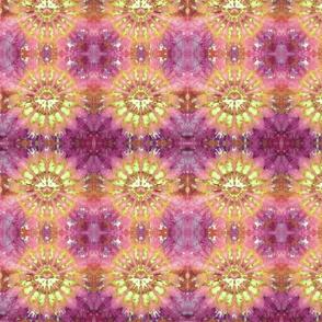 Kaleidoscope Burst Orange & Fuchsia