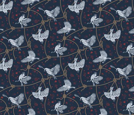 Bird Cherry fabric by meliszawang on Spoonflower - custom fabric