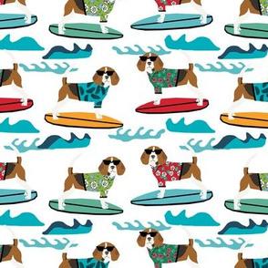 beagle surfing dog breed fabric pet lover fabrics white