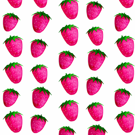 Dancing Strawberries / watercolor-watercolour-2 fabric by franbail on Spoonflower - custom fabric