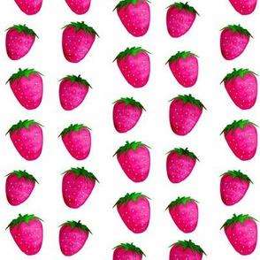 Dancing Strawberries / watercolor-watercolour-2