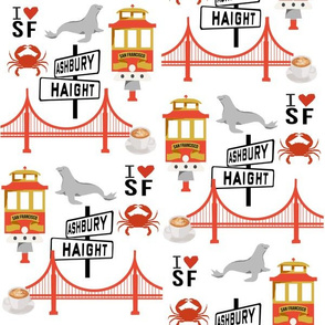 san fran travel fabric san francisco california tourist white