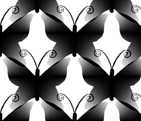 Giant Black Butterfly fabric by atlas_&_tootsie on Spoonflower - custom fabric