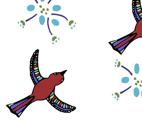 Bird Flower fabric by dale_ramirez on Spoonflower - custom fabric