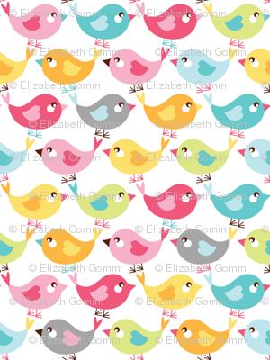 Birdies on parade