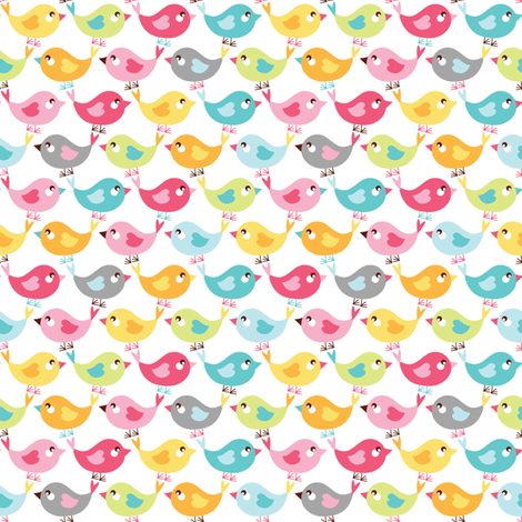 Birdies on parade fabric by ebygomm on Spoonflower - custom fabric