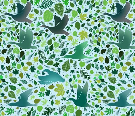 Northwoods Sky  fabric by irishvikingdesigns on Spoonflower - custom fabric