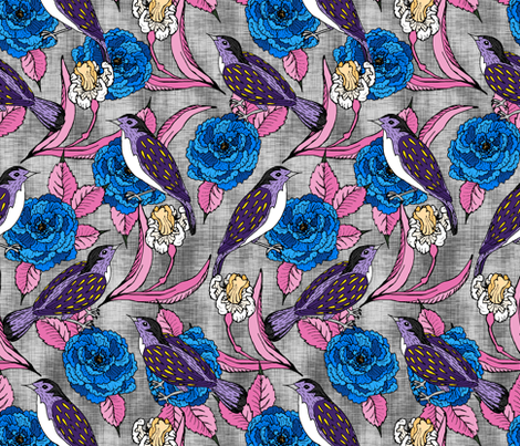 Speckled Birds  fabric by pond_ripple on Spoonflower - custom fabric