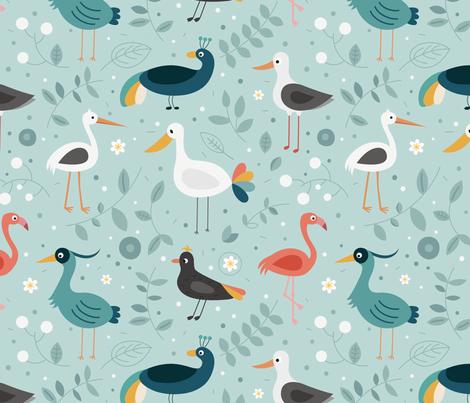 wading-birds fabric by la_fabriken on Spoonflower - custom fabric